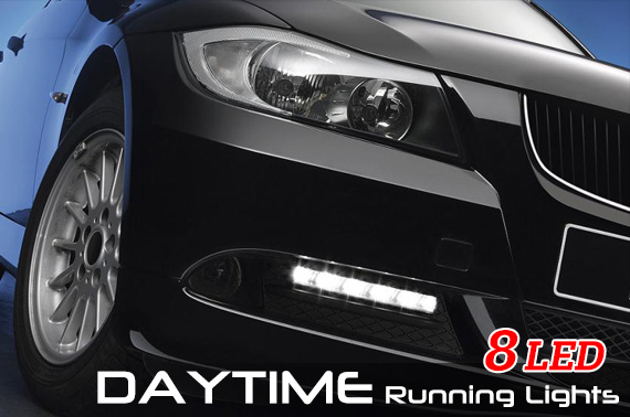 2x Super Bright Running LED Light for Cars