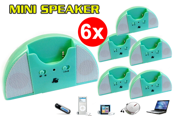 Super Ozstock Day: 6x Portable Speaker with Sliding Headphone Jack