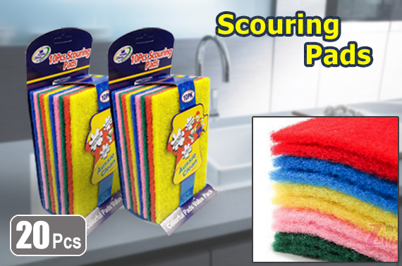 Super FREE Ozstock Day: 20 x Colour Kitchen Scouring Pad